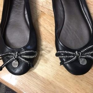 Coach black leather flats size 8.5 US